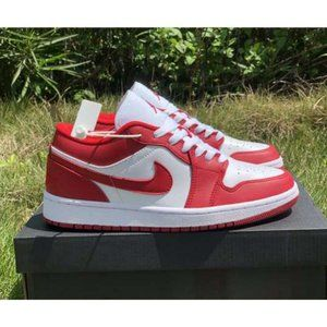 Wmns 2020 AJ 1 Low Gym Red White 553558-611